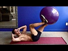 100 Abs Exercises on the Ball - YouTube