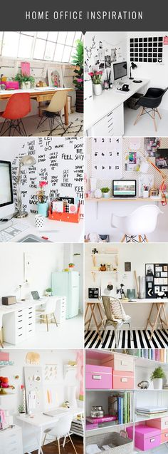Home Office Inspiration - The Nectar Collective #office #decor #homedecor #officedecor