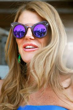 Anna Dello Russo    Get noticed in a pair of futuristic sunglasses.    Occupation: Editor-at-Large, Vogue Japan