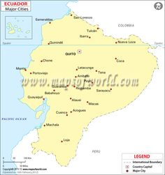 Great info on Ecuador.  Click around for weather information.