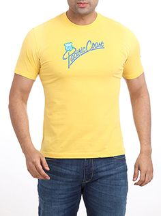 Here is one more round neck T-shirt from the Parx casual wear series. Parx Jeans Men Yellow T-Shirt is a 100% cotton slim fit casual t-shirt in medium yellow color. It has a machine embroidered �Pacific coast� in medium blue on the front, which adds an air of lightness to this cotton T-shirt. This T-shirt can be worn to work on Fridays when you are so looking forward to the weekend. This yellow T-shirt is sure to add a zing to your style. Casual T Shirts, Casual Wear, Yellow T Shirt, Pacific Coast, Neck T Shirt, Work Wear, Your Style, Tank Man, Slim
