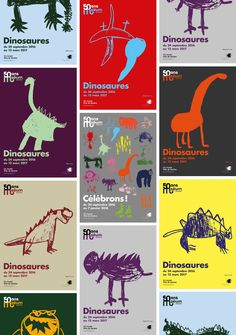 Grrrr posters for the anniversary of the Geneva Museum - Graphéine Flyer Poster, Flyer And Poster Design, Poster Design Inspiration, Graphic Design Posters, Graphic Design Typography, Graphic Design Illustration, Kids Graphic Design, Graphic Art, Museum Identity