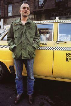 Robert De Niro photographed by Steve Schapiro on the set of Taxi Driver