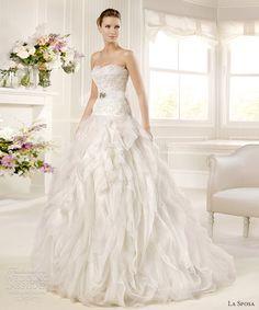 la sposa wedding dresses 2013 mirto drop waist ball gown