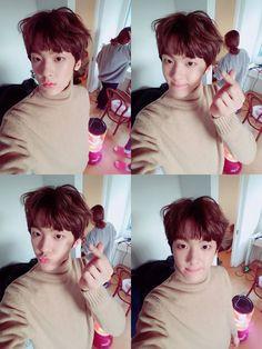 161123 SANHA  Twitter  아로하팬분들!!맛저하세용♡♡♡2탄 #아로하 #아스트로 #고백