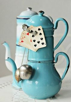 Why yes, let's play cards while having tea! (source:pinterest.com)