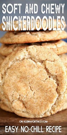 Snickerdoodle Cookie Recipe is the perfect fall dessert for cinnamon lovers. If you want an easy to make soft & chewy snickerdoodle cookie, this is for you.