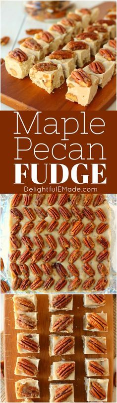 Are you a fudge lover? This delicious 5-ingredient Maple Pecan Fudge recipe will be right up your alley! Loaded with rich maple flavor and tender, brown sugar pecans, this maple fudge recipe is perfect for holiday candy making!