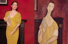 Peter Lindbergh voor Harper's Bazaar. schilderij van. Amedeo Modigliani