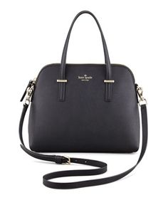 cedar street maise dome tote bag, black by kate spade new york at Neiman Marcus.