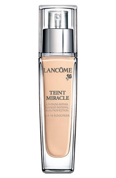 Lancôme 'Teint Miracle' Lit-from-Within Makeup Natural Skin Perfection SPF 15. - Tried a sample of this one. Seems lika a really good foundation. Need to ask for sample in correct shade at Kicks.