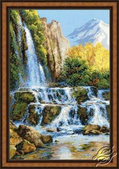 Landscape With Waterfall - Cross Stitch Kits by RIOLIS - 1194