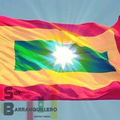 Bandera de Barranquilla Flag, Country, Cityscape Photography, Flags, I Love, Necklaces, Scenery, Rural Area, Science