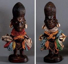 "Africa | Pair of ""ere ibeji"" from the Yoruba people of Nigeria 