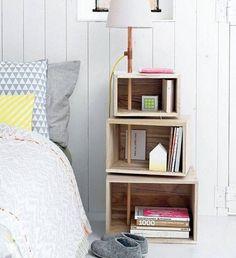 Besoin d'une nouvelle table de chevet dans votre chambre? Avez-vous pensé à la fabriquer vous-même? Avec un peu d'imagination, les résultats peuvent être surprenants...