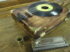 An inspiring homemade cigar box guitar. Cigar Box Projects, Cigar Box Crafts, Music Guitar, Cool Guitar, Guitar Art, Art Music, Ukulele Stand, Cigar Box Guitar Plans, Resonator Guitar