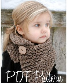 Knitting PATTERN-The Boston Cowl Toddler Child by Thevelvetacorn