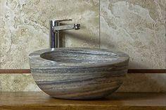 Palla Antico: lavabo da appoggio  #pietredirapolano #travertino #lavabi #lavandini #pietranaturale