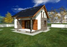case cu mansarda sub 150 de metri patrati loft houses under 150 square meters 8 Beautiful House Plans, Beautiful Homes, Tree Bedroom, Cosy House, Home Fashion, Gazebo, This Is Us, Shed, Outdoor Structures