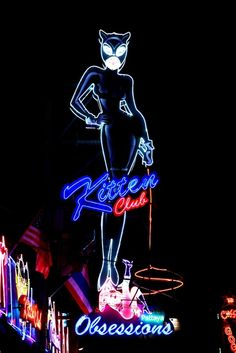 kitten club ~ large neon sign