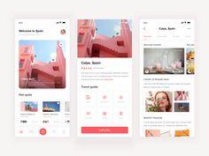 Tourism APP designed by 刘狗蛋 for DCU. Connect with them on Dribbble; Ui Design Mobile, Web Design Studio, Portfolio Web Design, Web Ui Design, Web Design Trends, Web Design Company, Mobile Ui, Flat Design, Design Design