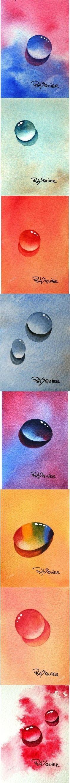 水彩画 水滴