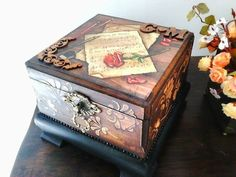 Decorative Boxes, Country, Home Decor, Craft Box, Decoupage, Boxes, Decorated Boxes, Diy, Rural Area