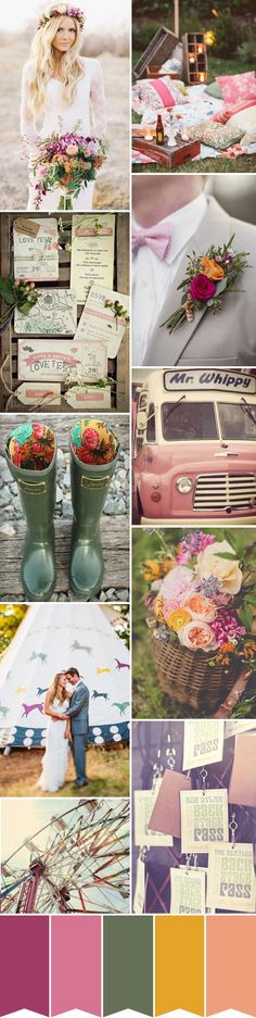 FESTIVAL WEDDING INSPIRATION - Read more on One Fab Day: http://onefabday.com/a-festival-wedding/