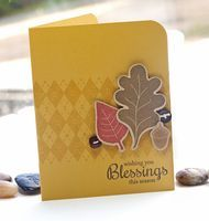 Love the colors and background of this fall card.