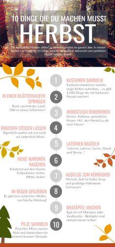 Herbst Bucket-List | 10 Dinge, die du unbedingt machen musst! | Shades of Nature