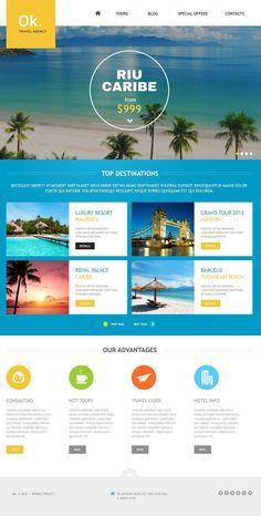 Template 45159 - Ok Travel Joomla Template