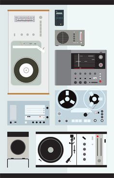 Dieter Rams Tribute Poster Is Modern  Check out Blue Art Studio's tribute poster to Dieter Rams. Rams was a huge industrial design influence back in the day and his presence is still seen in products today, especially from Apple. I'm glad to see Snow White's Coffin in there. Best record player ever.  [Blue Art Studio via notcot.org]