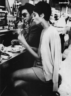 """Christy Turlington in """"Jean Seberg"""" (US Vogue editorial 1990, inspired by the Breathless actress) by Ellen von Unwerth"""