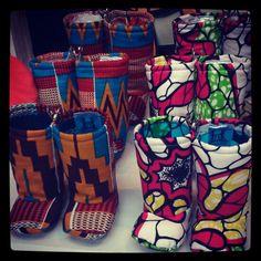 African print baby booties!! #cute