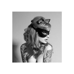 Ribbon Tied Latex Mask (53 CAD) ❤ liked on Polyvore featuring grey, lingerie and women's clothing