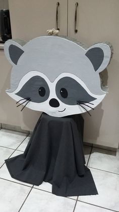 Racoon Head Only Pinata Racoon, Baby Showers, Minnie Mouse, Disney Characters, Fictional Characters, Party, Handmade, Enchanted Forest Party, Woodland Party