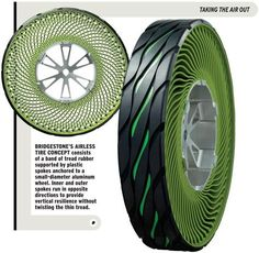 Airless Tire-and-Wheel #concept from Bridgestone #car