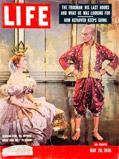 1956 Cover LIFE Magazine Deborah Kerr Yul Brynner King and I Movie Musical