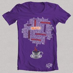 """Camiseta morada """"CAFE 1"""""""