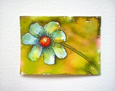 ORIGINAL aceo, watercolor aceo, aceo flower, floral aceo, artist trading card, atc original, aceo painting, hand painted aceo, hand made aceo, atc original. This aceo is painted in watercolor technique on arches (100% cotton,300 g.,acid-free,chloride free). Size:2.5/3.5 inches. All images on this shop are copyrighted and as such are subject to protection by copyright law.