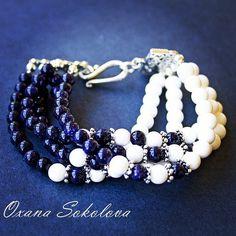 30 отметок «Нравится», 1 комментариев — Oxana  Sokolova  Оксана (@oxanamuz) в Instagram: «Многорядный браслет. Авантюрин и натуральный перламутр. В наличии.  #bracelet #jewelryoftheday…»