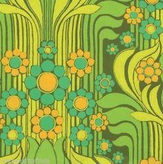 Wall Flower| Serafini Amelia| Vintage Flower Power Wallpaper - Newly Reduced!!