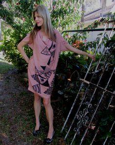New NUMPH Designer Abstract Modern Print Slouch SEXY SILK Sheath Dress Medium #numph #Sheath #Casual