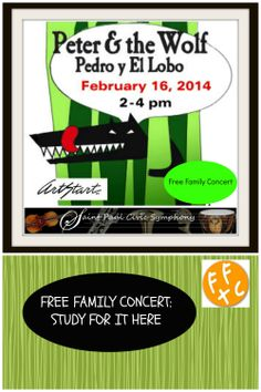 St. Paul Civic Symphony Presents Peter and the Wolf - Sunday, February 16, 2014.