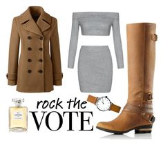 """VOTE!"" by blackswan2712 on Polyvore featuring Lands' End, SOREL and Chanel"