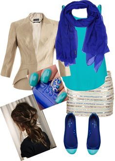 """Bluess"" by indyfever on Polyvore Really like it, just not the skirt."