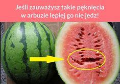 Jeśli zauważysz takie pęknięcia w arbuzie lepiej go nie jedz! Life Guide, Healthy Diet Recipes, Good To Know, Watermelon, Life Hacks, Food And Drink, Health Fitness, Fruit, Drinks