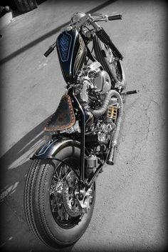 Shovelhead   Bobber Inspiration - Bobbers and Custom Motorcycles   the-ghost-darkness September 2014