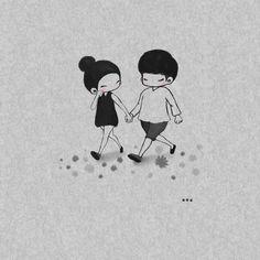 소소한 하루 sosoharu : 네이버 블로그 Couple Cartoon Pictures, Love Cartoon Couple, Cute Couple Comics, Cute Love Cartoons, Cartoon Pics, Cute Cartoon, Love Drawings, Doodle Drawings, Doodle Art