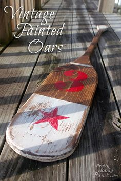 How to create vintage painted oars